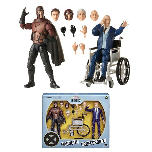 X-Men Movie Marvel Legends Professor X and Magneto 6-Inch Action Figure 2-Pack