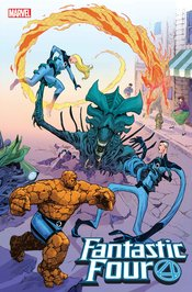 FANTASTIC FOUR #28 CASSARA MARVEL VS ALIEN VAR EMP